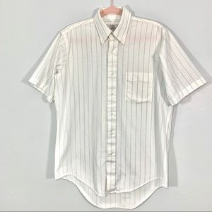 Vintage   Short Sleeve Pin Striped Button Down